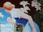 Alice vor dem Spiegel